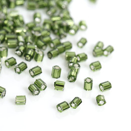 Wholesale red line jewelry - Japan Import Glass Seed Beads Hexagon Green Silver Lined About 2mm x 2mm,Hole:0.8mm,10 Grams(About 140 PCs Gram) New jewelry making DIY