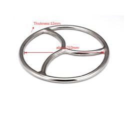 arnés de bola roja Rebajas Triskele Acero Inoxidable Bondage Ring suspension Shibari Fetish BDSM Sex Toy NUEVA LLEGADA A132 A133