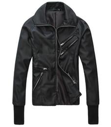 Wholesale Korean Singer Fashion - Men in Spring metrosexual leather motorcycle leather coat UK plug part fitted leather jacket Korean singer costumes