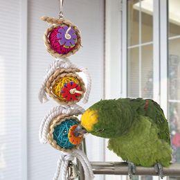 Wholesale Pet Cockatiel - Parrot Toys Ball Pet Bird Bites Climb Chew Toys Hanging Cockatiel Parakeet Swing Parrot Cage Bird Toys