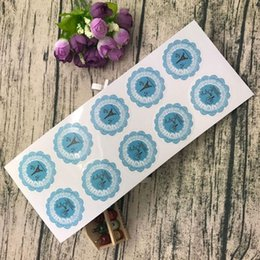 Wholesale Cake Paper Lace - Round Lace Adhesive Stickers Gift Packing Bag Sealing Decal DIY Hand Made Gift Cake Candy Paper Tags 0 33jd C