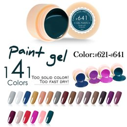 Wholesale Gel For Nails Kit - Wholesale- #50618 Hot Sell Nail Art CANNI uv led 141 colors 5ml professional nail paint color gel kit, 141 uv color gel lacquer for nails