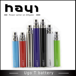 Wholesale Ego T Low - Lowest Price UGO-T Battery Ego usb Passthrough ugot Battery 650 900 1100mah UGO-T USB battery vs vision DHL Free