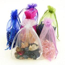 Wholesale Orange Organza Favor Bags - 2016 new 100pcs 25*35cm   30*40cm   20*30cm Multi Colors jewelry gift pouch wedding organza bags Wedding Favor Party 2073