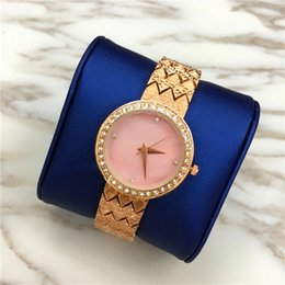Wholesale Pink Rose Quartz Jewelry - Special Design Women watches Pink Color Lady Wristwatch Free shipping Rose Gold High Quality Small Eyes Crystal Relogio Masculine High-grade