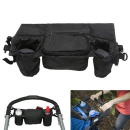 Wholesale Birth Fabric - Baby Stroller Organizer Bag Oxford Fabric Baby Stroller Cup Organizer Baby Carriage Accessories Pram Buggy Cart Bottle Bags
