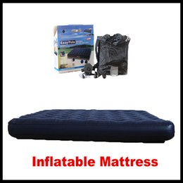 Wholesale Quality Foam Mattress - High Quality Outdoor Inflatable Mattress Air Cushion Promotion Quality Leisure Double Furniture Bed Room Inflatable Beds DHL