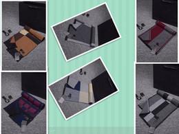 Wholesale Tartan Mens Scarf - Top Quality 100% Cashmere Winter Mens Cashmere Scarf Blue Chestnut Plaid Designer Soft Man Scarf Print Warm Male Scarves 195x35cm With Box