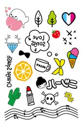 Wholesale Cartoon Temporary Tattoos - Wholesale- 2016 New High Quality Cartoon Water Transfer Waterproof Temporary Candy Color Tattoo Sticker Body Art Sexy Makeup