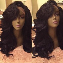 Wholesale Silk Top Human Wigs - Grade 8a silk top wig deep wave silk base glueless full lace wigs lace front wigs Peruvian human hair wig with baby hair