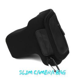 Wholesale Dslr Neoprene - Wholesale-Camera bag for Canon 450D 500D 550D Nikon D3200 D5200 D5300 Newest Neoprene waterproof DSLR protector with Outside Zip pocket