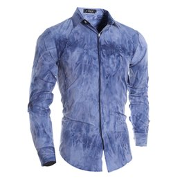 Недорого летняя одежда мужчины онлайн-Wholesale-2016 New 5xl Tie-dyed Hawaiian Shirt For Men Summer American Style Street Wear Shirts -clothing Camisa Masculina Cheap S441