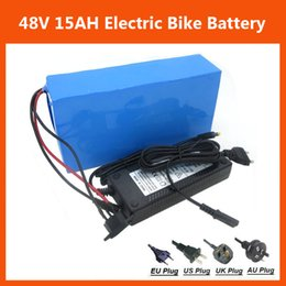 Wholesale Rechargeable Electric Scooter - Rechargeable 48V 15AH Lithium Battery pack 48V 750W Electric Bike Battery 48V Scooter battery with PVC case 54.6V 2A charger Free shipping