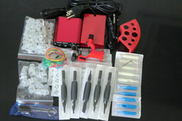 Wholesale Tattoo Starter Guns - New Arrival Pro Complete Tattoo Kit Dragonfly Rotary Tattoo Machine Gun Power Supply Foot Pedal Needles Grip Tattoo Starter Kit Supply