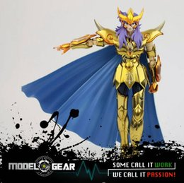 Wholesale Saint Seiya Metal - 18 CM Metal Club MC Metalclub Model Scorpio Milo Saint Seiya Metal Armor Myth Cloth Gold Ex Action Figure Toys