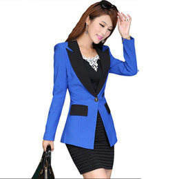Wholesale Applique Work Suits - Ladies Blazers and Coats Plus Size Office Wear Work Long Sleeve Black Slim Small Suit Bodycon Blazer Jackets Women Coat Female