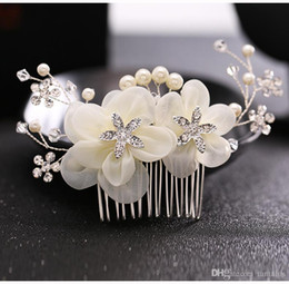 Rhinestone white flower tiara nz buy new rhinestone white flower rhinestone white flower tiara nz white flower bridal hair comb wedding pearl headpiece bride crystal mightylinksfo