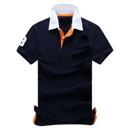 Polo de tenis online-Venta al por mayor 2017 de alta calidad de los hombres de la marca de algodón polos hombres polos retro ocio tenis tenis camiseta / polos de hombres
