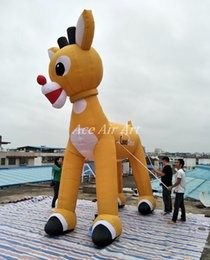 Wholesale Inflatable Outdoor Christmas Decorations - Party Decoration Christmas Inflatable Unique Outdoor Christmas Reindeer   Christmas inflatable reindeer for Xmas decoration