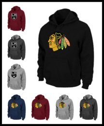 Wholesale Purple Watch Mens - Epacket Men Chicago icehockey sweatshirts hawks warm Pullover clothing brown red wine black Mens watching game Los Angeles hoodie M-XXXL