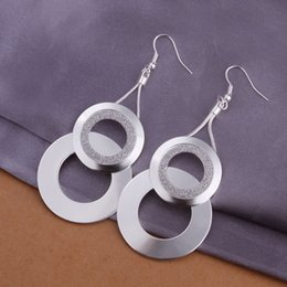 Wholesale Net Photos - Wholesale- E322 fashion jewelry chains Earrings silver Earrings silver pendant Net spend Photo Frame jewelry