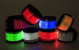 Wholesale Led Bands For Parties - Nylon LED Sports Slap Wrist Strap Bands Wristband Light Flash Bracelet Glowing Armband Flare Strap For Party Concert Armband ZD055