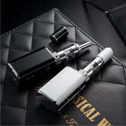 Wholesale Big Black Stickers - New E-cigarette Kits Starter Kts Electronic Cigarette Big Smog Battery Capacity 1300 Fashion Sticker Three Colors Mini Vape Kit