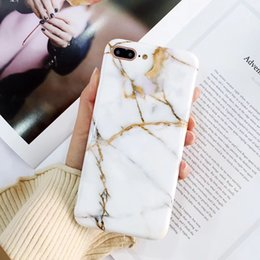 Wholesale Iphone Covers Sale - Factory Sales Thick TPU Housing Cover Shell Soft Case Phone Protection Marble Design IMD Cases for iPhone X 6 6S 7 8 Plus