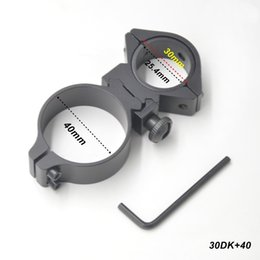 Wholesale Tactical Cantilever - AloneFire 25mm 30mm 40mm Scope Rings Dual Ring Cantilever Scope Mount High Quality 20mm Tactical Hunting Rail Mount