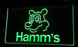 Wholesale Bear Sign - LS059-g Hamm's Beer Bear Head Bar NEW Neon Light Sign
