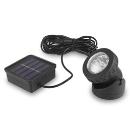 Wholesale Light Control Energy Saving - LED Solar SpotLight 6LEDs Waterproof Automatic Light Control Solar Power Lamps for outdoor Camp Energy Saving