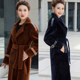 Wholesale Best Winter Fur Coats - 2018 new arrival best selling shearling coats women high quality long sleeves winter thick womens outweaer coats