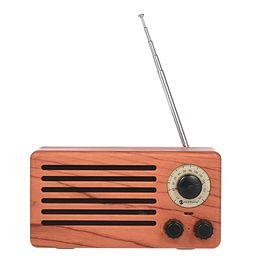 NR-3013 Taşınabilir Kablosuz Bluetooth Hoparlör Ahşap Ses Kutusu Stereo Müzik Çalar Destek FM Radyo TF Kart U Disk Müzik Oynatma nereden tahta diskler tedarikçiler