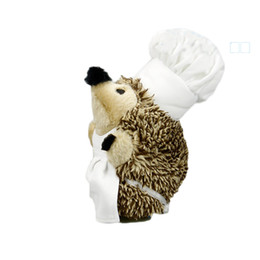 Wholesale Medium Plush Toys - Brown Hedgehog Dog Toy Medium Squeak Plush Chew Pet Toy Teeth Clean Puppy Toy Free Shipping