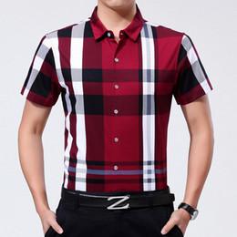 Wholesale Shirts Cotton Short Men - Wholesale-2016 Summer Men Shirt Brand clothing Casual Shirt Plus Short Sleeve 100%Cotton Plaid Shirt Best Quality Size S M L XL XXL