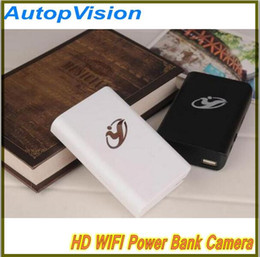 Wholesale Dvr Mobile Phone - FULL HD 1080p mini camera power bank dvr wifi wireless remote monitor 140 degrees IR night vision Spy Hidden Camera for Mobile phone