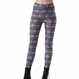 Wholesale Black White Galaxy Leggings - Women Fashion White Floral Galaxy Leggings Black Diving Pants Printed Sky Space Stretchy Breathe Christmas Warm Jeggings Slim Tights