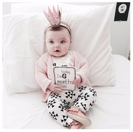 Wholesale Baby Linen Shirt - 2016 Sping Hot Fashionable Baby Girls Cotton Spring Clothes Sets Infant Children Girl Long Shirts&Pants Clothing Set White Troubie 2pcs Kids