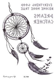 Wholesale Tattoos Designs Sketches - Wholesale- SC2704 Large 2D Sketch New Design Indian Tribe Designs Totem Sketch Dreams Body Art Temporary Tattoo Stickers Fake Big Tatoos