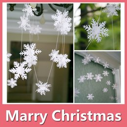 Wholesale Hanging Snowflakes Decorations - Christmas Decoration Snowflake Hanging Ornament Pendant Very Realistic Very Suitable For Christmas Trees And Window Decoration Party Decorat