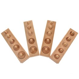 Wholesale Socket Toys - Arpa Montessori Wooden Cylinder Socket Family Pack Early Learning Education Toy 4pcs set