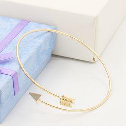 Wholesale Arrow Bracelet Bangle - New Fashion Arrow Gold silevr plated cuff bracelet simple alloy opening arrow bangle bracelet trendy jewelry for women