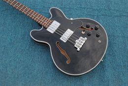 Wholesale Body Jazz Bass - OEM Sales Custom Jazz Bass Hollow Thin Body Mahogany Body Neck Closed Knob String Winder Chinese Guitar Factory Free Shipping
