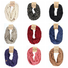 Wholesale Infinity Scarf Knitting - Presale Multi-colors CC Infinity Scarf CC Confetti Soft Chunky Pullover Knitted Long Loop Infinity Hood Cowl Scarf CCA7574 100pcs