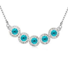 Wholesale Unique Beaded Necklaces - 2016 Direct selling fashion unique sweet han edition Austrian crystal necklace Fashionable joker - sugar - G063 rainbow