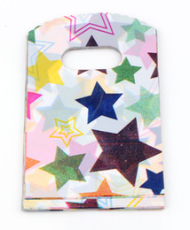 Wholesale Star Gift Bags - Hot ! Jewelry Pouches.300pc 9X15cm Star Plastic Bag Jewelry Gift Bag