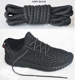 Wholesale Family Colors - wholesale 350 boost Shoelaces kanye west shoes Shoe Laces 350 V2 Runner Shoe Laces turtle dove pirate black colors 12Cm
