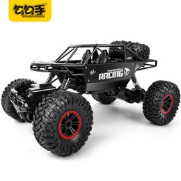 Wholesale Rock Rc - GouGouShou 1:18 4WD RC Car 2.4GHz Metal Rock Crawlers Rally Climbing Off-Road big Vehicle Remote Control Model Toys For Children