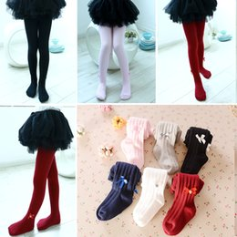 Wholesale Toddler Girls Tutu Leggings - 2017 Baby Girls Pantyhose Children'S Leggings Solid 6 Color Kids Boots Pants Skirt Leg Warmers Toddler Tights Girl Trousers Soft Cotton