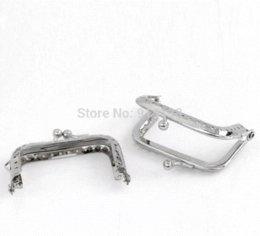 Wholesale Metals Frames For Purses - 5 Metal Frame Kiss Clasp For Purse Bag Silver Tone 6.8x5.2cm(Can Open Size:9.8x6.8cm) B01486 frames dance